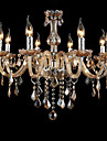 Luxury Crystal Candle Chandelier Amber Crystal