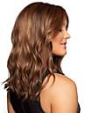 ragazza di modo in lunghi capelli parrucca sintetica marrone ondulato
