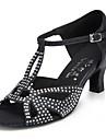 """Scarpe da ballo - Disponibile """"su misura"""" - Donna - Latinoamericano - Stiletto - Pelle - Nero / Blu"""