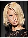 mitt långa hår europeisk väva ljus blont hår peruk