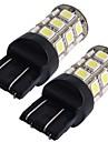 2 * 7443 7440 T20 lampe ampoule de frein arriere de voiture 5050SMD blanc 27 LED 12V 2.5W lumiere 250LM
