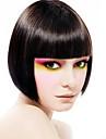 Capless kort bob högkvalitativa syntetiska naturligt svart rakt hår peruk fullt Hjälp