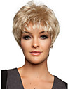 2016 nya mode full peruk blond mix kort raka kvinnor syntetisk peruk