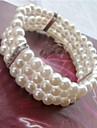 Brățări Pentru femei Manşetă / Componentă Argintiu / Imitație de Perle Imitație de Perle / Ștras