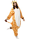 Lovely Giraffe Gul Fleece Kigurumi pyjamas tecknad Sleepwear Animal Halloween dräkt