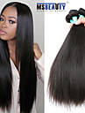 """3 st / lot 8 """"-30"""" 5a peruanska jungfru hår rakt hår förlängningar 100% obearbetade remy människohår väver"""