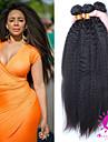 Tissages de cheveux humains Cheveux Malaisiens Droit 12 mois 3 Pieces tissages de cheveux