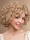 courte perruque blond couleur profonde boucles mode femme