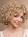 blond färg djup lockig mode kvinna korta peruk