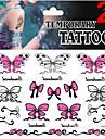 JT - Tatueringsklistermärken - Non Toxic / Mönster / Glitter / Ländrygg / Waterproof / Jul -Smyckeserier / Djurserier / Blomserier /