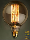 G125 Straight Wire 60W 110V-240V Lamp Bulb Edison Big Retro Decorative Light Bulbs