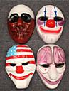 Mask Burlesk/Clown Festival/Högtid Halloween Kostymer Röd Tryck Mask Halloween Unisex