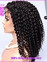 Densite de 250% bresiliens crepus avant de lacet perruques frisees Afro pleine dentelle perruques de cheveux crepus boucles humains pour
