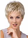 charmig fullt bang ljus blont kort skicklig lockigt Capless peruk för kvinnor