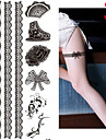 1 Tatouages Autocollants Autres Non Toxique Motif Paillettes Bas du Dos Impermeable NoelBebe Enfant Homme Femelle Femme Adulte Male