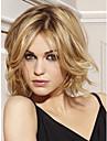 cheveux de longueur moyenne europeenne Weave lumiere perruque blonde cheveux