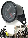 svart 12v motorcykel scooter hastighetsmätare vägmätare gauge 0-160km / h motorcykel bakgrundsbelyst dubbla hastighetsövervakning med