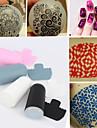 1 jeu de nail art et de matrice ensemble de raclage, de bricolage ongles beaute decorations outils de modele de matrice 4 couleurs