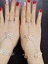 Dame Inele Midi La modă bijuterii de lux Diamante Artificiale Aliaj Animal Shape Fluture Bijuterii Pentru Nuntă Petrecere Zilnic Casual