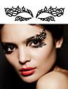 Others - Tatueringsklistermärken - Non Toxic / Spets - Blomserier - till Vuxen - Svart - Kolfiber - 2Pcs - styck 13.3*9.8*0.4 - 12 Styles