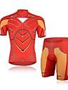 Cykeltröja med shorts Herr Kort ärm CykelAndningsfunktion / Ultraviolet Resistant / Fuktgenomtränglighet / Kompression / Svettavvisande /