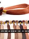 evet non transformes bresilienne de cheveux de la pointe de l\'ongle cheveux de vierge u Astuce extensions de cheveux 100strands 0,5 g / brin / lot