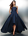 TS Couture® Formal Evening Dress A-line Jewel Asymmetrical Taffeta with Crystal Detailing