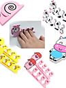 1 par härliga nail art mjuk finger tå separator tecknade mönster pedikyr manikyr verktyg 5 stil att välja
