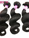 """3 st / lot 12 """"-30"""" 7a brasilianska jungfru lös våg hårförlängningar 100% obearbetat jungfru människohår väver"""
