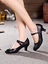 Chaussures de danse ( Autre ) - Non Personnalisables - Talon Cubain - Cuir / Cuir Verni - Latine / Jazz
