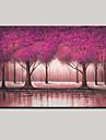 handmålade abstrakta landskap modern vackra träd oljemålning på duk en panel, redo att hänga