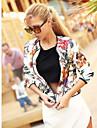 Femei Casual Femei Mediu Manșon Lung Jachetă Poliester