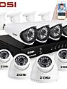 ZOSI®8CH HDMI 960H DVR 8 pcs 1000TVL IR Home Surveillance Security Cameras CCTV System