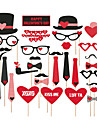 Lover\'s 27 PCS Paper Photo Props for Valentine\'s Day Wedding Decoration