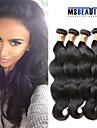 """4 st / lot 8 """"-20"""" 8a peruanska jungfru hår förkroppsligar vinkar människohår väft 100% obearbetat peruanska remy hår väver"""