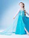 Costumes de Cosplay Princesse / Conte de Fee Cosplay de Film Bleu Couleur Pleine Robe Halloween / Noel / Nouvel an Enfant Mousseline