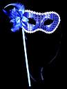 Mask Ängel & Djävul Festival/Högtid Halloween Kostymer Röd / Guldig / Silver Lappverk Mask Halloween / Karnival Unisex Glansig Metall