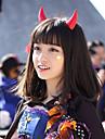 Perruques de Cosplay Cosplay Alice Noir Moyen Anime Perruques de Cosplay 50 CM Fibre resistante a la chaleur Masculin / Feminin
