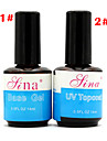 1pcs BASE COAT + TOP COAT  New 14ML Nail Art Soak Off Color UV Gel