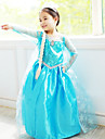 Costumes de Cosplay Princesse / Conte de Fee Cosplay de Film Bleu Couleur Pleine Robe Halloween / Noel / Nouvel an Enfant Mousseline