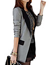 Women\'s Casual Contrast Color Shrug Long Slim Blazer,Long Sleeve