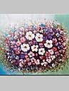 handmålade abstrakta landskap modern blommande blommor kniv oljemålning på duk redo att hänga en panel 80x120cm