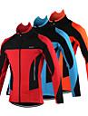 Arsuxeo Veste de Cyclisme Homme Velo Veste Maillot Hauts/TopsRespirable Garder au chaud Pare-vent Design Anatomique Poche arriere Bandes