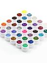 Nagellack UV Gel 8ml 36pcs Glitter Blöt off lång livslängd