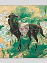 HANDMÅLAD DjurModerna / Klassisk / Traditionellt / Europeisk Stil En panel Kanvas Hang målad oljemålning For Hem-dekoration
