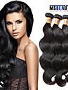 3 pieces / lot 8a indien extensions de cheveux de vague de corps de cheveux humains vierge non traitee tisse