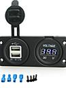 iztoss 5v 3.1a dubbla USB-laddare port och 12-24 voltmeter uttag för motorcykel motorcykel bil rv båt