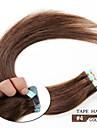 20pcs 1.5-2g / pc 16-24inch bresilien extension de bande vierge de cheveux humains # 4 bande dans les extensions de cheveux humains 006
