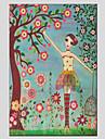Människor / Botanisk Canvastryck En panel Redo att hänga , Horisontell