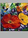 Peint a la main A fleurs/Botanique Carre,Pastoral Un Panneau Toile Peinture a l\'huile Hang-peint For Decoration d\'interieur